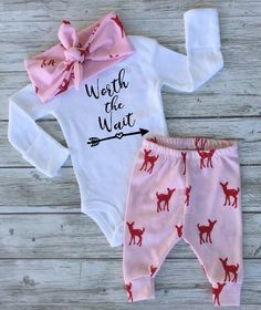 A personal favorite from my Etsy shop https://www.etsy.com/ca/listing/461759324/pink-deer-baby-girl-newborn-baby-coming