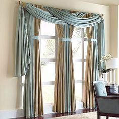 Beautiful Tall Curtains Design Ideas For Living Room 03 - Home Decor Ideas 2020 Tall Curtains, Unique Curtains, Home Curtains, Colorful Curtains, Hanging Curtains, Swag Curtains, Large Window Curtains, Blinds Curtains, Drapery Panels