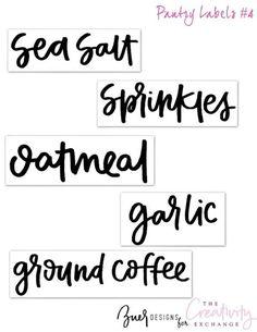 Free Printable Pantry Labels 4