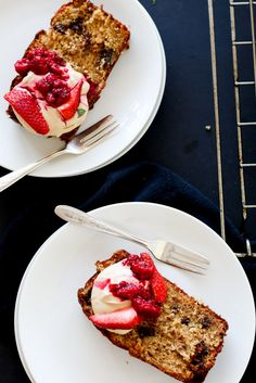 Chocolate Chunk Banana Bread with Espresso Mascarpone - The Brick Kitchen