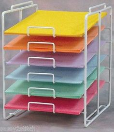 white 12 x 12 k d stackable rack 73 065 scrapbook and paper rh pinterest com