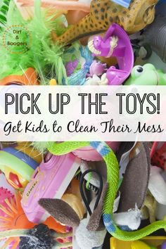 One simple way to get kids to clean up at the end of the day.