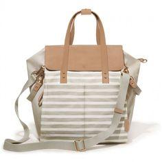 skip hop highline backpack - oyster stripe