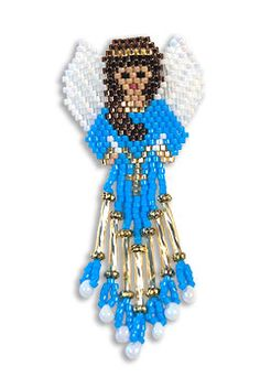 Zaniel - Teen Angel Beaing Pattern by Rita Sova at Bead-Patterns.com