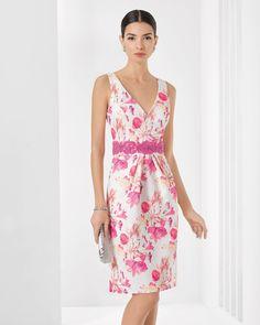 9T124 Vestido de Cocktail de Rosa Clará 2016