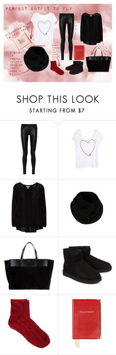 """""""Perfect Outfit to Fly!"""" by nelibeli ❤ liked on Polyvore featuring Helmut Lang, Victoria's Secret, Joie, Ted Baker, Yves Saint Laurent, UGG Australia, ASOS, Aspinal of London and The Body Shop"""