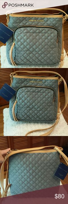 Adrienne Vittadini NWT Gray Quilted Crossbody Bag Adrienne Vittadini NWT Gray Quilted Crossbody Bag, Zip Closure, Zippered pocket outside, 2 Slip pockets inside and Zippered pocket inside Adrienne Vittadini Bags Crossbody Bags