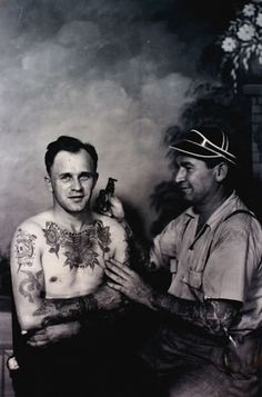 """obi-kenobii: """"Vintage photography of american tattoos. The last one is Bert Grimm. Tatto Old, Old Tattoos, Tatoos, Tomboy Tattoo, Naval Tattoos, Bert Grimm, Traditional Tattoo Old School, Traditional Tattoos, Vintage Style Tattoos"""
