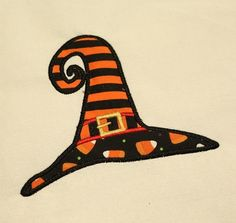 Witch Hat Applique Machine Embroidery Design