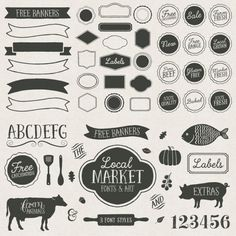 Local Market – Handmade Fonts and Ornaments