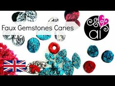 Tutorial Faux Stone Canes with Polymer Clay Polymer Clay Canes, Fimo Clay, Ceramic Clay, Porcelain Ceramics, Polymer Clay Jewelry, Clay Tutorials, Video Tutorials, Clay Videos, Faux Stone