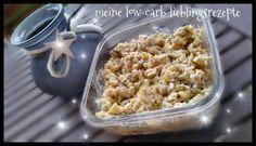 Heringssalat (ca. 4 Portionen) 2 kleine Zwiebeln (ca. 80 g) 5 g Erythritol Salz, Pfeffer 1 mittlerer Apfel (ca. 100 g) 150 g Gewürzgurken 260 g Hering (Matjes Filets nordischer Art vom Netto z. B.)…