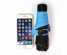 Товары для подарка Зонтик Mini Pocket Umbrella размером в телефон - фото