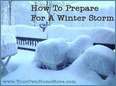 How to Prepare for a Winter Storm - Your Own Home Store.If your ever in a severe storm :D Homestead Survival, Survival Prepping, Emergency Preparedness, Survival Skills, Survival Gear, Severe Weather, Extreme Weather, Winter Hacks, Winter Tips