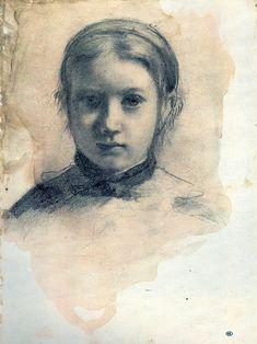 Edgar Degas   drawing, Giovannina Bellelli