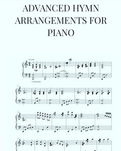 Advanced Hymn Arrangements for Piano Free Sheet Music, Piano Sheet Music, Piano Jazz, Kids Piano, Piano Lessons, Music Lessons, Organ Music, Elementary Music, Elementary Schools
