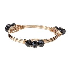 Gameday Black Wrapped Wire Bracelet | underthecarolinamoon.com