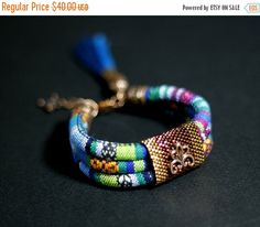 ON SALE Bohemian Hippie Bracelet Ethnic Bracelet by HeriniaJewelry