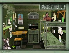 A collection of furniture for prison cells and other institutuions.  Note: the topmost bunk beds are fully functional, but you WILL need the latest Late Nights Patch (free - just update your game)...