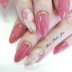 best nail shapes Makeup Tips Nail Manicure, Toe Nails, Pink Nails, Elegant Nails, Stylish Nails, Asian Nails, Asian Nail Art, Kawaii Nails, Pretty Nails
