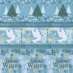 Christmas Wishes Paper blue 11
