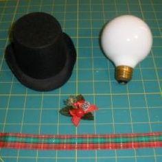 Lightbulb Ornaments | Recycled Light Bulb Christmas Ornaments | ThriftyFun