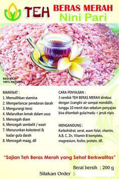 Serba Beras Merah Bali di Kafe Herbal Lovina - Singaraja: Teh Beras Merah