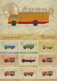 Car Posters, My Works, Cars And Motorcycles, Behance, Trucks, Toys, Illustrations, Rap, Nostalgia