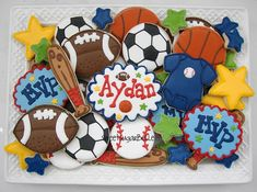 Birthday Ideas - Sporty cookies-omg I love this idea!!!