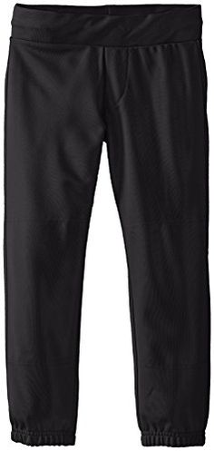 Easton Girls' Zone Pant Black Large  Look good, play even better. Let Easton's technology improve your game as the entire women's line of pants are made with 100% polyester/microfiber technology and have Bio-Dri fabric that effectively wicks away moisture to keep you cooler, drier and lighter. All styles are also fitted with the pro ribbed, low-rise elastic waistband with sewn- down set-in back pockets.       Easton Girls' Zone Pant Black Large Features   Girl's inseam: Small: 21..