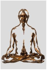 Sukhi Barber's bronze sculptures embody the peace and compositional balance of traditional devotional art, while also challenging the viewer, provoking intuitive insight into meditative experience and transcendence. Buddha Sculpture, Bronze Sculpture, Nice Art, Cool Art, Mass Culture, Meditation Art, Negative Space, Art Therapy, Zbrush