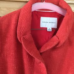 Banana Republic jacket size 8 Very nice, like new, jacket from Banana Republic. Only wore a couple of times. It is a size 8 but runs big. I have the dress I wore with it also listed. Would love to make someone a great deal on both. Banana Republic Jackets & Coats