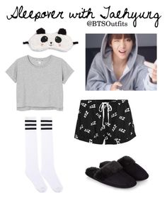 """""""Sleepover with Taehyung"""" by btsoutfits ❤ liked on Polyvore featuring MINKPINK, P.J. Salvage, Accessorize and Monki"""