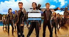 One of the Tumblr's Log-in Screen