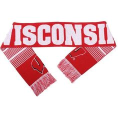 Ncaa Forever Collectibles Reversible Split Logo Scarf, University of Wisconsin Badgers, Red