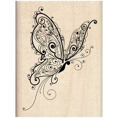 Inkadinkado® Wood Stamp, Butterfly