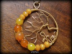 Bright Sunny Day  A Tree of Life Pendant  by WildWirecraft on Etsy