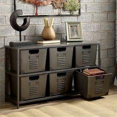 Metal Storage Shelves, Industrial Storage, Industrial House, Bin Storage, Industrial Metal, Industrial Boys Rooms, Industrial Style Bedroom, Industrial Basement, Industrial Living Products