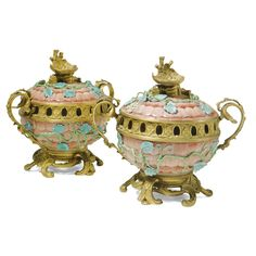 A pair of French gilt-bronze-mounted Samson porcelain pot-pourri vases and covers late 19th/early 20th century  Sotheby's