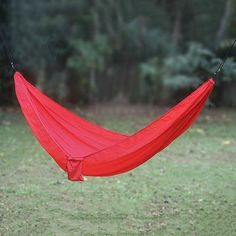 Parachute hammock, 'Uluwatu Red' (single) - Parachute Hammock in Red with Hanging Accessories (Single) Hammock Tarp, Camping Hammock, Hammocks, Camping Equipment, Camping Gear, Outdoor Camping, Camping List, Backpacking, Backpacker