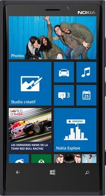 Nokia Lumia 920 (Black) Price: Rs.30999 Key Features      1.5 GHz Dual Core Krait Processor     Wi-Fi Enabled     8.7 MP Primary Camera     Secondary Camera Support     Windows Phone 8 OS     4.5-inch PureMotion HD+ Capacitive Touchscreen     Qi Wireless Charging