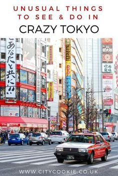 A guide to the craziest, weirdest and most unusual things you can do and see in Tokyo. Make your trip to Japan a memorable one! Travel in Asia Japan Travel Guide, Tokyo Travel, Asia Travel, Travel Guides, Travel Hacks, Tokyo City, Tokyo Japan, Japan Trip, Tokyo Trip