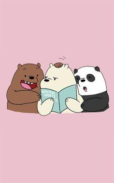 Panda Panpan Polar Bear Ice Bear Grizzly Bear Grizz We Bare Bears iPhone Cute Panda Wallpaper, Bear Wallpaper, Cute Disney Wallpaper, Cute Wallpaper Backgrounds, Tumblr Wallpaper, Wallpaper Iphone Cute, Kawaii Wallpaper, Wallpaper Wallpapers, Computer Wallpaper
