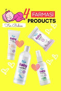 Baby Lotion, Baby Shampoo, Baby Skin Care, Baby Care, Beauty Essentials, Beauty Hacks, Farmasi Cosmetics, Cosmetic Logo, Usa Baby