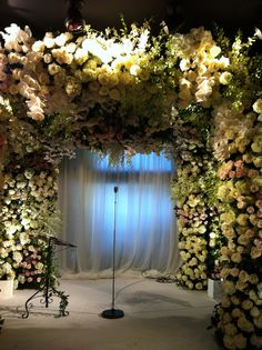 ceremony canopy of flowers