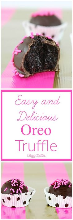 Easy Oreo Truffles Recipe that is fabulous they are a must. Try them out!