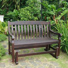 Delahey Outdoor Porch Glider Bench, Dark Brown, Seats 2 option instead of porch swing