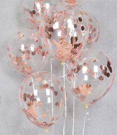 Rose Gold Confetti Balloons Party Decorations - Pack of Great Rose Gold Birthday Decorations for Party, Rose Gold Party Supplies for Engagement, Weddings, Proms, Rose Gold Baby Bridal Shower Decorations Pieces) Décoration Rose Gold, Rose Gold Theme, Rose Gold Decor, Rose Gold Foil, Birthday Roses, Gold Birthday Party, 21st Birthday, 15th Birthday Party Ideas, Birthday Parties