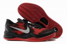 best website bf9e4 47a82 Nike Kobe 8 System iD Mens Basketball Shoes Black Red!