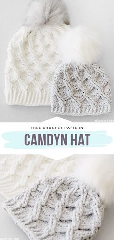 Cable stitching is a beautiful way of adding a texture to many products. You can use this technique to make a subtle ridged surface, or you can make a very pronounced design more like celtic… Débardeurs Au Crochet, Bonnet Crochet, Crochet Cable, Crochet Crafts, Crochet Hooks, Chunky Crochet Hat, Crocheted Hats, Girl Crochet Hat, Newborn Crochet Hats
